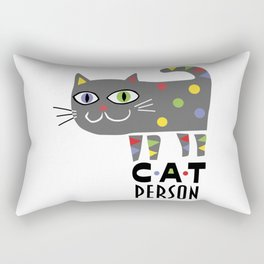 Cat Person Rectangular Pillow