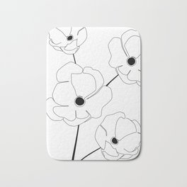 Bloomed Flower Bath Mat