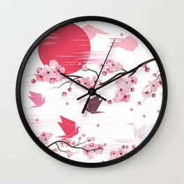 Sakura Blooms Wall Clock