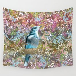 Little Scrub Jay Wall Tapestry