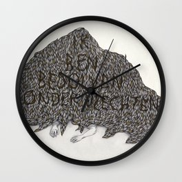 Covered in Braids Wall Clock