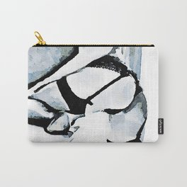 Nude girl with legs apart Carry-All Pouch
