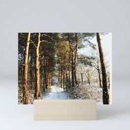 Forest Snow Scene Mini Art Print