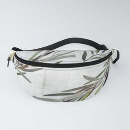 Eucalyptus Leaves White Fanny Pack