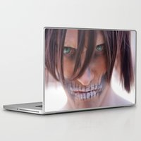 attack on titan Laptop & iPad Skins featuring Titan by 3dbrooke