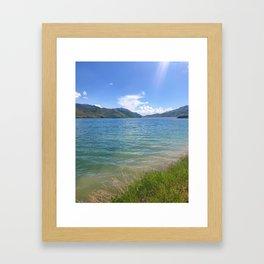 Lakeside bliss Framed Art Print