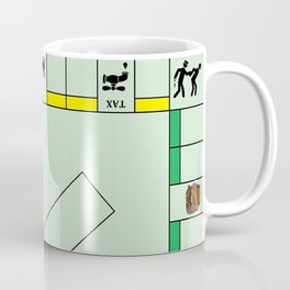 Monopoly Print Currency Game Coffee Mug