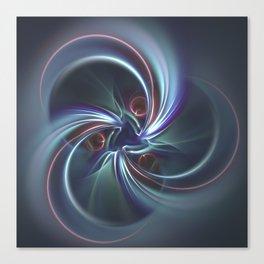Moons Fractal in Cool Tones Canvas Print