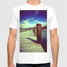 What's Up Dock?  Mens Fitted Tee White MEDIUM