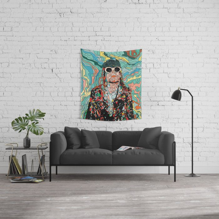 Maybe Just Happy Wall Tapestry