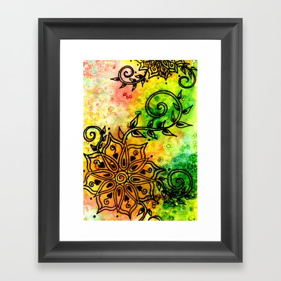 Henna Fantasia Framed Art Print