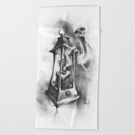 The Black Candle Beach Towel