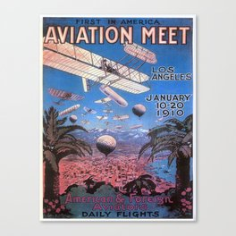 Vintage poster - Aviation Meet Canvas Print