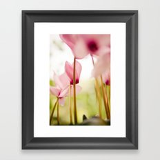 Cyclamen Forest Framed Art Print