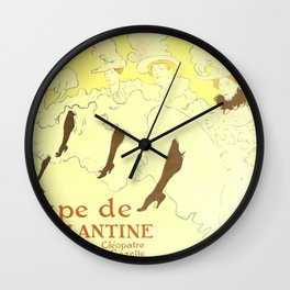 """Henri de Toulouse-Lautrec """"Troupe Mademoiselle Eglantine"""" Wall Clock"""