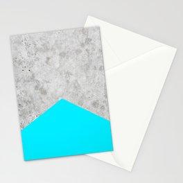 Concrete Arrow - Neon Blue #504 Stationery Cards