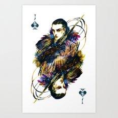 Knave of Spades Art Print