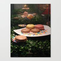 macarons Canvas Prints featuring Macarons by Chris Klemens