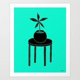 Plant on table Art Print