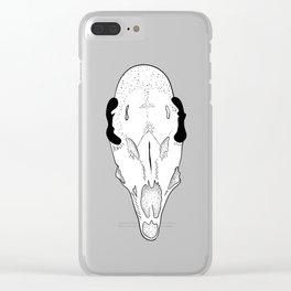 Dark skull of roe deer Clear iPhone Case