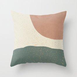 Minimalist Painting - Terra Green Throw Pillow