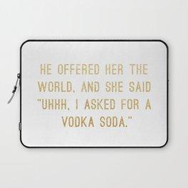 Vodka Soda Laptop Sleeve