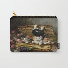 cute kitten 2- Leon Huber - A basket full of cat - pet,whikers,cat,kitty,kitten Carry-All Pouch