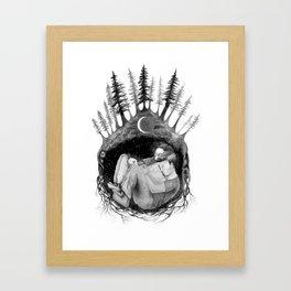 hibernate with me Framed Art Print