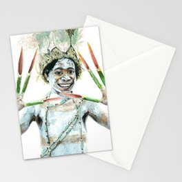 Boy from Papua New Guinea Stationery Cards