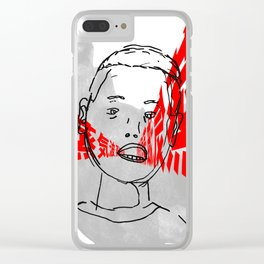 S T E A M W A V E Clear iPhone Case