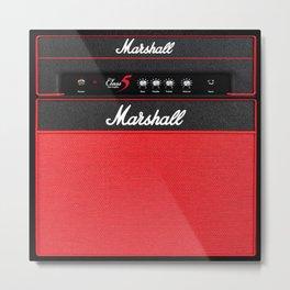 Retro Guitar Electric Amplifier Metal Print