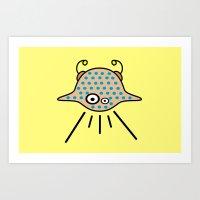 ufo Art Prints featuring UFO by Joe Pansa