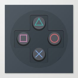 PlayStation - Buttons Canvas Print