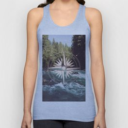 Rose Gold River Compass Unisex Tank Top