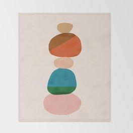 Abstraction_Rocks_Balance_Minimalism_001 Throw Blanket