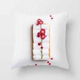 spring flowers on white background Throw Pillow