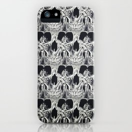 Skull Squares iPhone Case