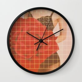 Sexy Lingerie Rose Wall Clock