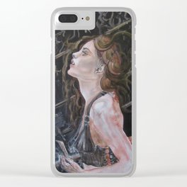 Beauty & the Blade Clear iPhone Case
