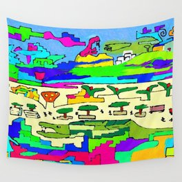the crazy persons in plaza Wall Tapestry