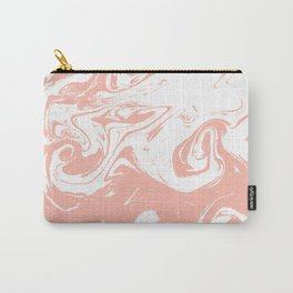 Marble pink 2 Suminagashi watercolor pattern art pisces water wave ocean minimal design Carry-All Pouch