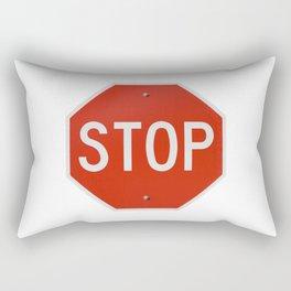 Red Traffic Stop Sign Rectangular Pillow
