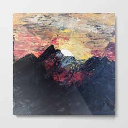 Arapahoe National Forest [2]: a colorful abstract mixed media mountain range Metal Print