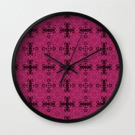 Pink Yarrow Abstract Wall Clock