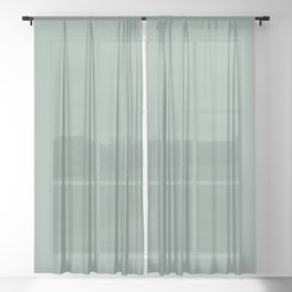 Valspar America Sea Green / Green Water / Zinc Blue Colors of the year 2019 Sheer Curtain