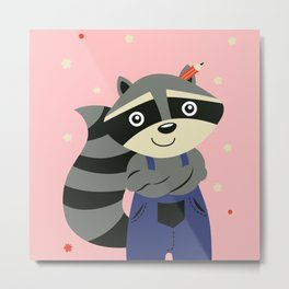 The young raccoon Metal Print