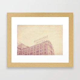 Roosevelt Hotel Framed Art Print