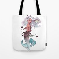gemini Tote Bags featuring Gemini by Laia™