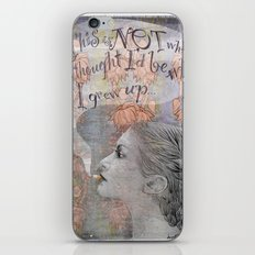 Smoking girl iPhone & iPod Skin