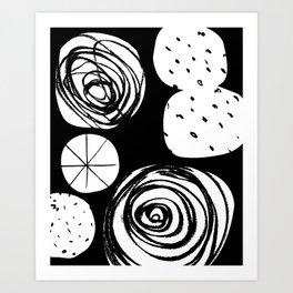 Cosmic Fight Art Print